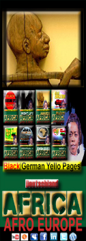 Black German Yello Pages Afro European Diaspora Directory AFRIKA Deutschland Business Media Art Culture PEOPLE OF COLOUR and Friends